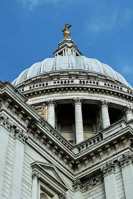 Photograph - St Paul's Cathedral London Dome Low Angle by Jacek Wojnarowski