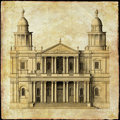 Photograph - St Paul's Cathedral West Face by Rod Jones