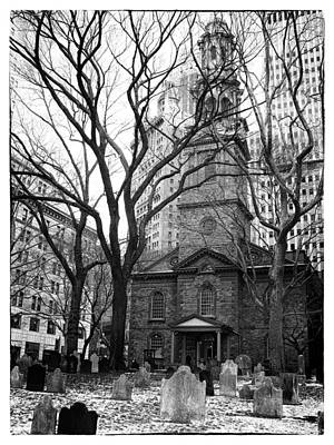 Bare Trees Digital Art - St. Paul's Chapel by Jessica Jenney