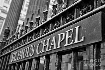 Photograph - St. Paul's Chapel by Kate Purdy