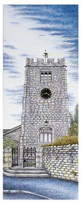 Bell Tower Painting - St Paul's Church Clock by Sandra Moore