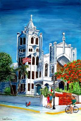 Painting - St. Paul's Church  by Linda Cabrera