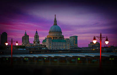 Photograph - St Pauls Dusk by David French