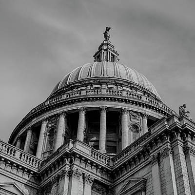 Photograph - St. Pauls In Black And White by Leah Palmer