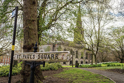 Photograph - St Pauls Square British Vintage Street Sign by Jacek Wojnarowski