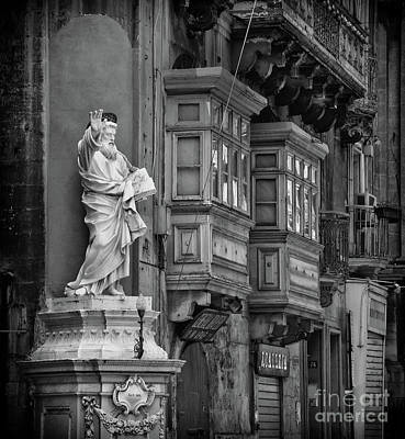 Photograph - St Paul's Statue In Valletta by Stephan Grixti