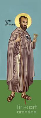 Painting - St. Pedro Betancur - Rlpeb by Br Robert Lentz OFM