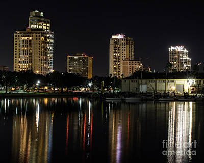 Photograph - St. Pete At Night by Phil Spitze