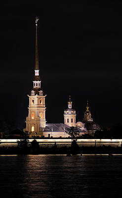 Photograph - St Peter And Paul Church At Night by Jaroslaw Blaminsky