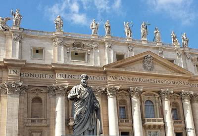 Photograph - St. Peter At The Vatican With The Keys To Heaven by Judith Rhue
