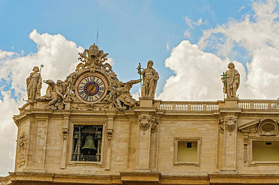 Photograph - St. Peter Basilica In Rome, Italy. by Marek Poplawski