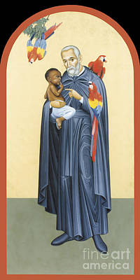 Painting - St. Peter Claver - Rlprc by Br Robert Lentz OFM