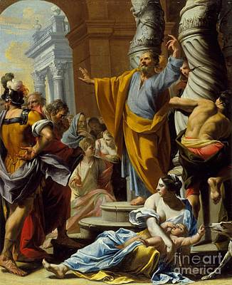 Painting - St. Peter Preaching In Jerusalem by Celestial Images