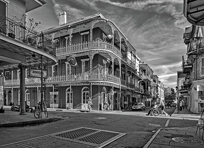 Photograph - St Peter St New Orleans Bw by Steve Harrington