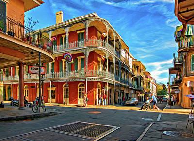 Photograph - St Peter St New Orleans - Paint by Steve Harrington