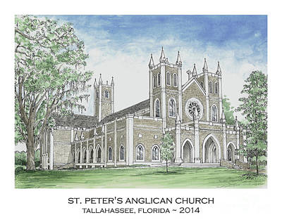 Painting - St. Peter's Anglican Church by Audrey Peaty