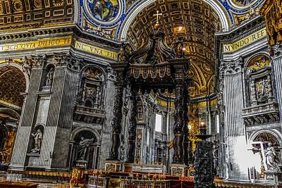 Photograph - St. Peter's Balduchin In St Peter's Basilica by Marilyn Burton