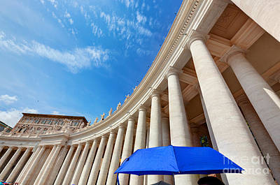 Photograph - St. Peter's Basilica Colonnades In Vatican City by Michal Bednarek