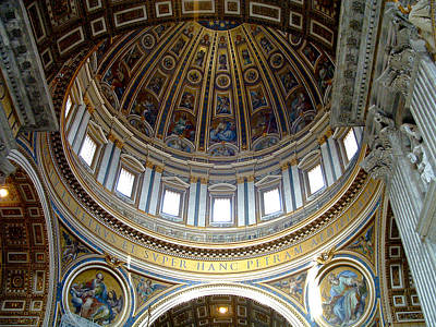 Photograph - St. Peters Basilica Dome by Roger Passman