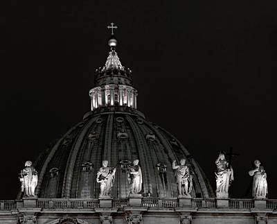 Photograph - St. Peter's Basilica Dome - Vatican by Daniel Hagerman