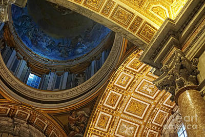 Vatican City Photograph - St Peter's Basilica by HD Connelly