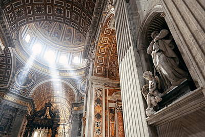 Photograph - St. Peters Basilica Interior by Songquan Deng