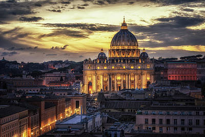 Photograph - St. Peter's Basilica by James Billings
