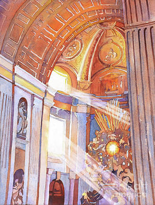 Painting - St. Peter's Basilica by Ryan Fox