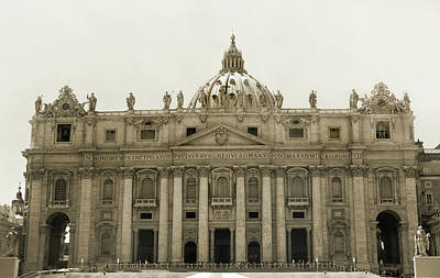 Photograph - St Peters Basilica. by Terence Davis