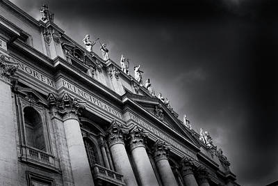 Photograph - St Peters Basilica, Vatican City by Alex Saunders