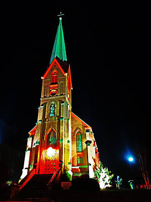 Photograph - St. Peters Catholic Church by Jacqueline  DiAnne Wasson