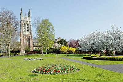 United Kingdom Photograph - St Peter's Church From Stapenhill Gardens by Rod Johnson