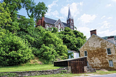 Armory Square Photograph - St. Peters Church Overlooking Harpers Ferry 1 by John Trommer