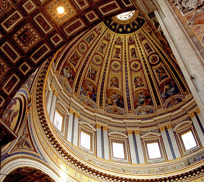 St Peters Looking Up Art Print by Martin Sugg