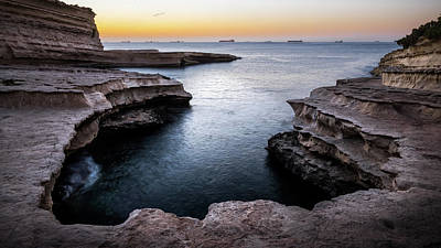 Marsaxlokk Photograph - St Peter's Pool - Marsaxlokk, Malta - Seascape Photography by Giuseppe Milo