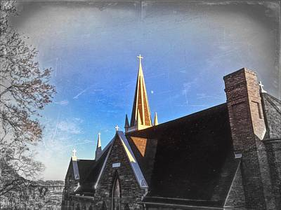 Photograph - St. Peter's Spire by Chris Montcalmo
