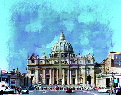 Photograph -  St. Peter's Square, The Vatican II by Al Bourassa
