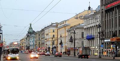 Photograph - St Petersburg Boulevard by Margaret Brooks