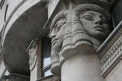 Photograph - St. Petersburg Egipt Building by Masha Batkova