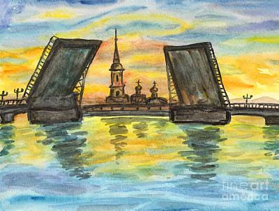 Painting - St. Petersburg, Painting by Irina Afonskaya