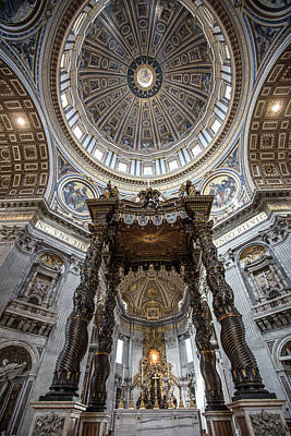Photograph - St Peters's Basilica Papal Alter by John McGraw