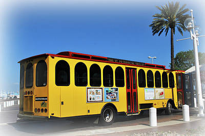 Photograph - St Pete's Trolley by Amanda Vouglas