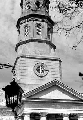 Photograph - St. Philip's Episcopal Church Black And White by Donnie Whitaker