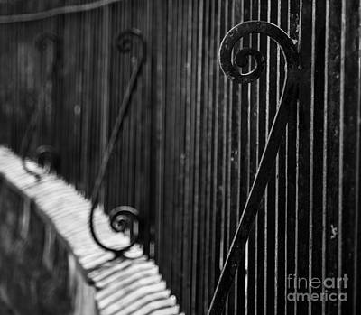 Photograph - St. Philip's Episcopal Church Cemetery Iron Fence by Donnie Whitaker