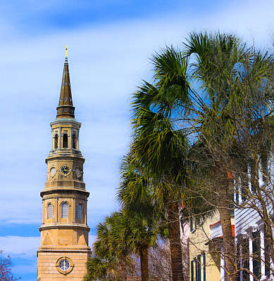 Photograph - St. Philip's Episcopal Church Steeple Charleston Sc by Donnie Whitaker