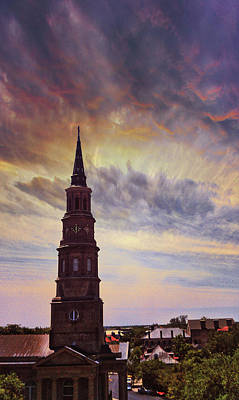 Photograph - St. Philips Sky In Charleston by E Karl Braun