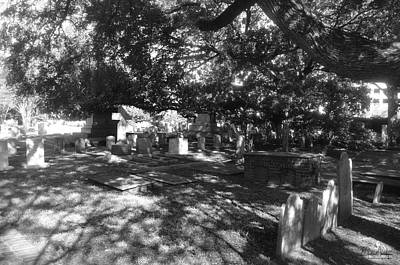 Photograph - St. Phillips Cemetery 1bw by Gordon Mooneyhan