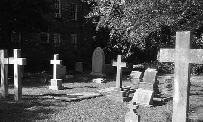Photograph - St. Phillip's Cemetery 2bw by Gordon Mooneyhan