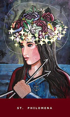 St. Philomena Art Print by Mary Ellen Frazee