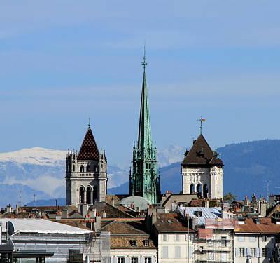 Photograph - St. Pierre Cathedral In Geneva, Switzerland by Elenarts - Elena Duvernay photo